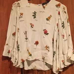 Zara botanical blouse